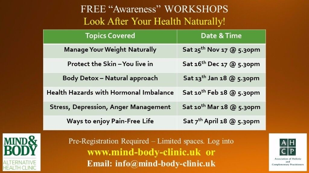 Free Health Workshops