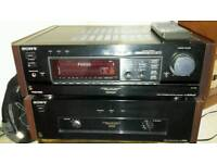 Sony Power Amp and Sony Control Amp with remote control and manuals