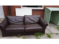 Leather couch free