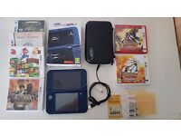 Nintendo NEW 3DS XL Metallic Blue + memory 16GB + 6 games + accessories - EXCELLENT CONDITIONS