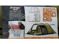 Vango kinetic 500 ( 5 birth ) air beam tent and matching air beam canopy