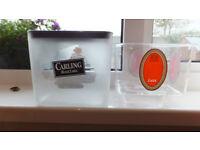 carling black label original vintage ice bucket plus insert see 4 images sign