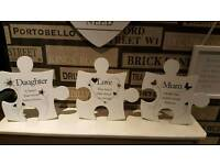 wall art quote jigsaw pieces