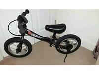 """Boys 12"""" black balance bike"""