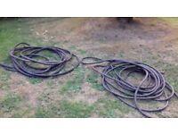 Black rubber and plastic hose
