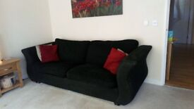 Black sofa and arm chair for sale
