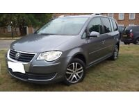 1OWNER VW TOURAN 2.0TDI SE, 6SPEED MANUAL 07 PLATE, 7 SEATER, FSH, IMMACULATE CONDITION IN&OUT ,