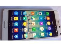 Samsung galaxy note 4 32gb white colour open to any network in excellent condition