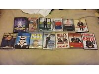 a pile of comedian dvds