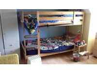 Ikea Pine double bunk bed - excellent condition