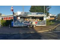 custom fish and chip /fast food  Mobile Catering Trailer 22ft x 7 ft and ford transit