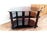 TV stand - Sony black glass 3 shelf
