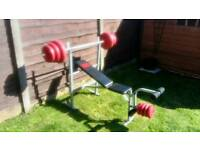 Weight bench with 49kg of weights