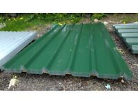 brand new 6ft long juniper green polyester coated box profile roofing sheets 32/1000