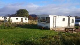 Two static 28x10ft caravans for sale £1,500 each