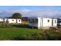 Two static 28x10ft caravans for sale £1,500 each