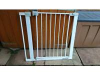 2 x stair gates with extender - pressure fit