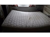 Ikea Malm king sized double bed with Sultan mattress