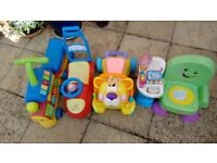 selection of outside toys