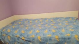 """Single corner bed from Ikea. Width 38"""" length 82"""" including mattress.good condition."""