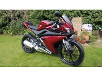 Yamaha YZF R125 2015, 12 months Mot, free warranty & free delivery