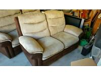 2 and 3 seater electric recling sofa