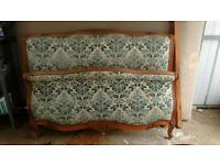 French bed and sofa