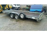 Car transporter trailer tilt bed