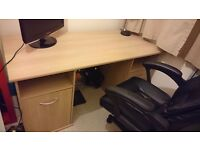Staples oak effect desk