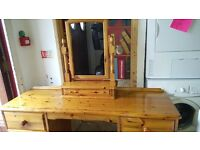 lovely pine dresser with mirror for sale