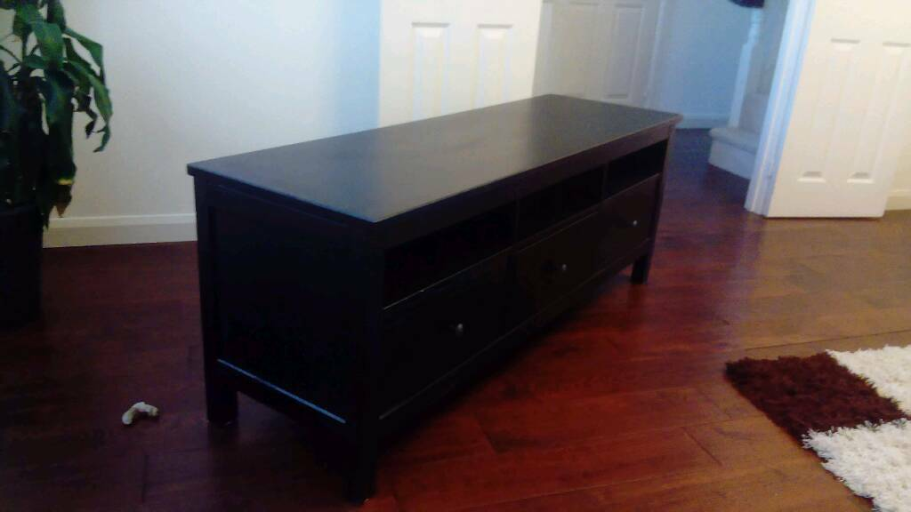 TV Bench Cabinet / Living Room Furniture Drawers (black brown)