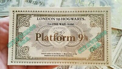 NEW! HARRY POTTER HOGWARTS EXPRESS TRAIN TICKET PLATFORM 9 3/4. SOUVENIR POSTER. Hogwarts Harry Potter