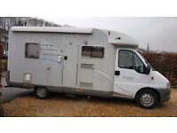 HYMER T575 LOW PROFILE MOTORHOME WITH FIXED REAR BED