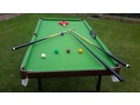 SNOOKER AND POOL TABLE (6' x 3')