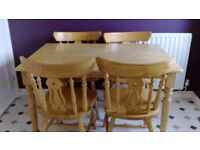 Pine Chairs and Table - Super Condition