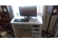Ikea desk with 3 shelves