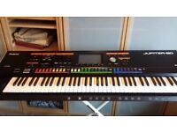 Roland Jupiter 80 Synthesizer Boxed Good Codition