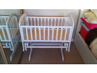 Deluxe Gliding Crib, in White - Immaculate Condition!
