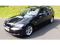 "BMW 318 D SE ESTATE 2000cc DIESEL, 2008 ""08"" BLACK, GOOD CONDITION, WITH F.S.H."
