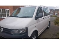 VW T5 Transporter 2011 140bhp 9 seater Kombi MPV Shuttle Minibus Uber Campervan SWB NO VAT Reading
