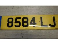 Cherished Registration Number plate 8584 LJ
