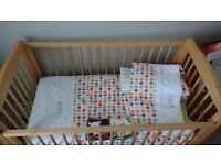Baby cot with bed