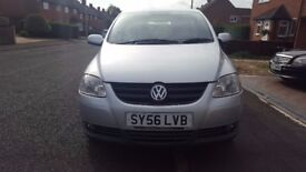 VW FOX, MANUAL, DRIVES EXCELLENT, FULL-SERVICE HISTORY, CAMBELT DONE AT 80,000 MILES,1 YEAR MOT