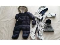 Baby boy 0-4 winter suits.