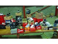 Joblot kids adults trainers football boots sports clothes