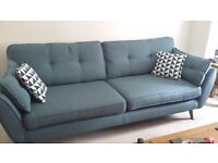 2 x DFS sofas one 4 seater and one 2 seater immaculate condition £500 for both