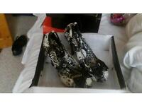 Size 5 new boxed ladies designer high heel shoes
