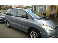 Toyota Previa (7 seater) Low Mileage Diesel FSH with 10 Main Dealer Stamps (just serviced) 3 Keys