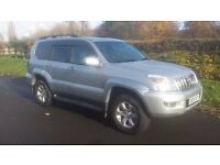 2005 TOYOTA LAND CRUISER 3.0 D4D INVINCIBLE LC5 AUTO ONLY 117000 MILES 8 SEATS FULLY LOADED
