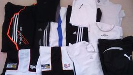Boys Sports clothes Bundle or will split. Brands include Puma, Adidas, Everlast ,Dunlop . 12 items